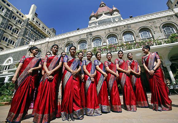 Staff of the Taj Mahal Palace hotel.