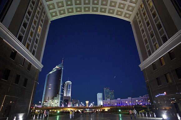 A view of Astana, capital of Kazakhstan.