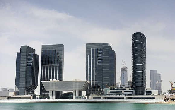 Sowwah Square on Marayah Island in Abu Dhabi's central business district, United Arab Emirates.