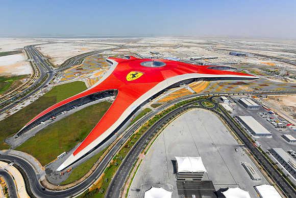 A view of Ferrari World Abu Dhabi, a Ferrari themed amusement park, in United Arab Emirates.