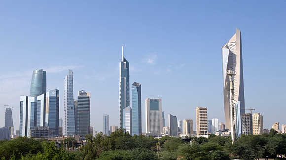 A view of Kuwait City.