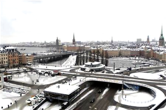 A general view shows Stockholm.
