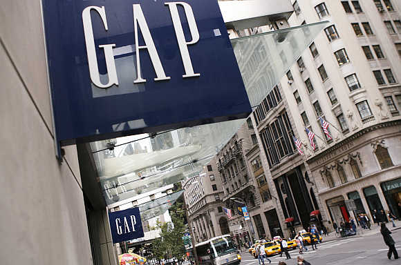 Gap store on Fifth Avenue in New York City, United States.