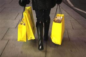 High street shopping.