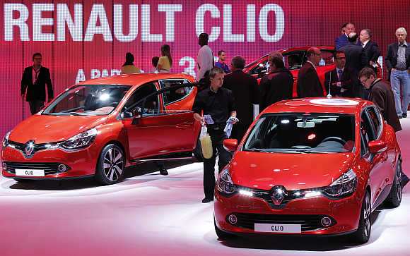 Renault's Clio on display in Paris.