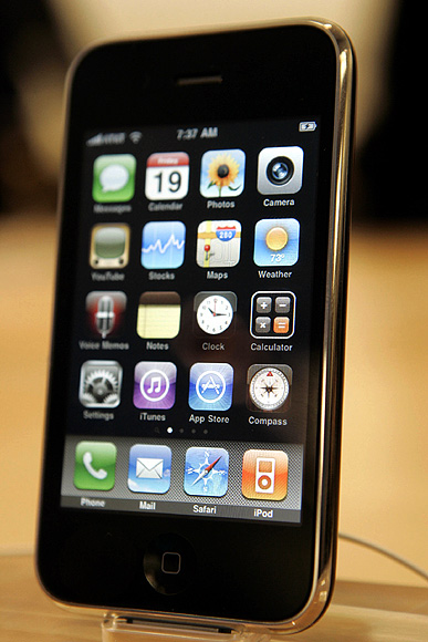 The Apple iPhone 3GS is shown at the company's retail store in San Francisco, California.