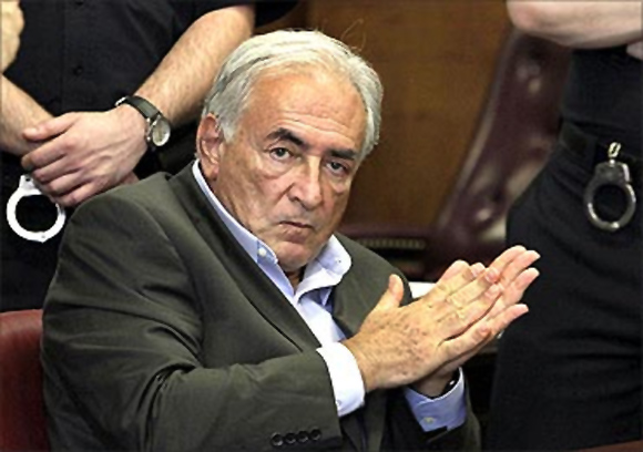 Dominique Strauss-Kahn during the trial.