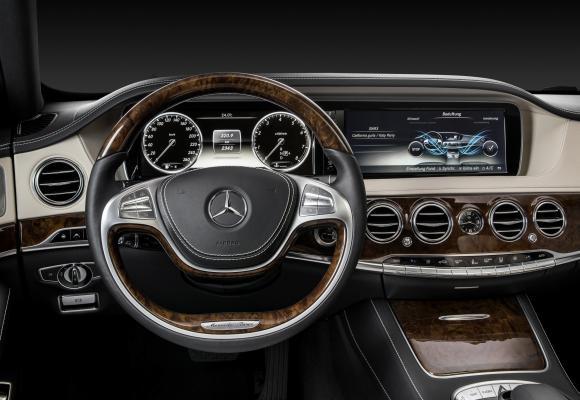 Interior of Mercedes S Class.