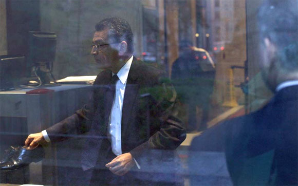 Rajat Gupta arrives at Manhattan Federal Court in New York May 21, 2012.
