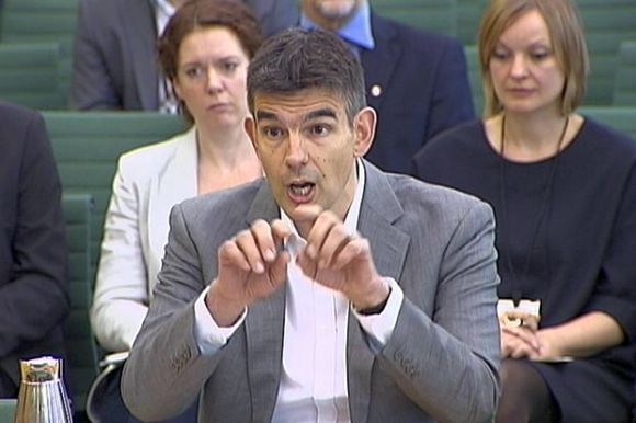 A video grab image shows Google's vice president for northern and central Europe, Matt Brittin, addressing the Public Accounts Committee (PAC) in London.