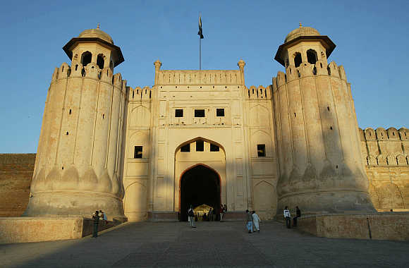 A view of the 500-year-old Lahore Fort in Lahore, Pakistan.
