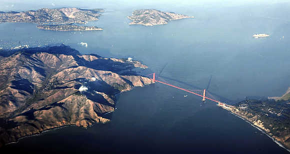 A view of Golden Gate Bridge in San Francisco, California.