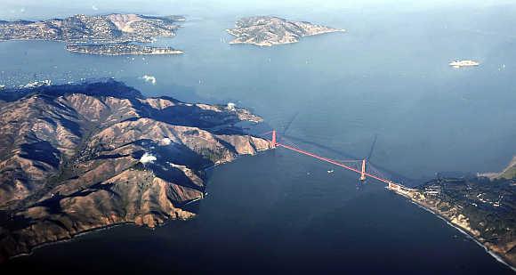 A view of Golden Gate Bridge in San Francisco, California.