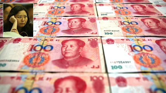 Chinese 100 yuan banknotes. Wu Yajun (Inset).