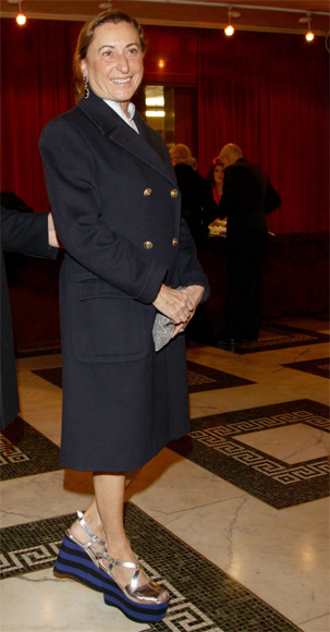 Miuccia Prada attends the 2010 Carlo Porta Award held at Teatro Manzon.