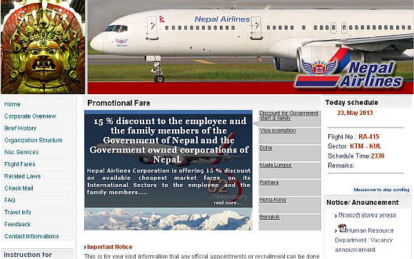 Nepal Airlines.