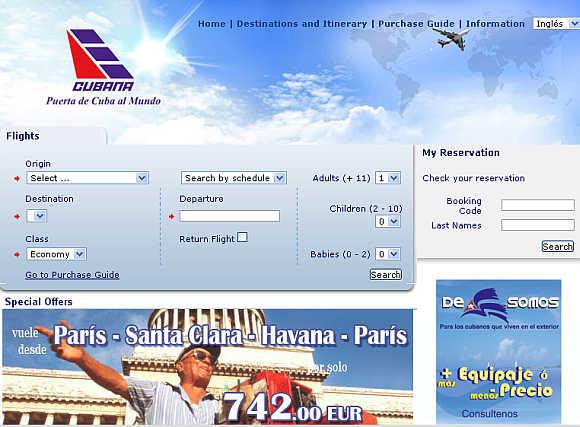 Cubana Airlines.