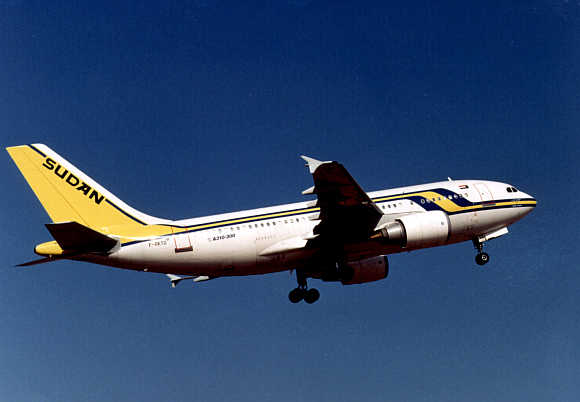 A view of Sudan Airways Airbus A310.
