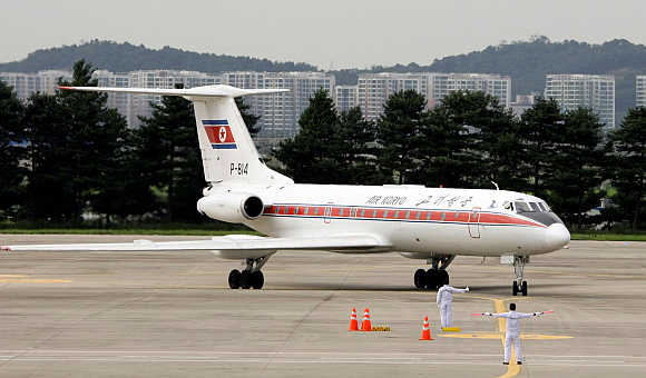 Air Koryo plane at Gimpo Airport in Seoul, South Korea.