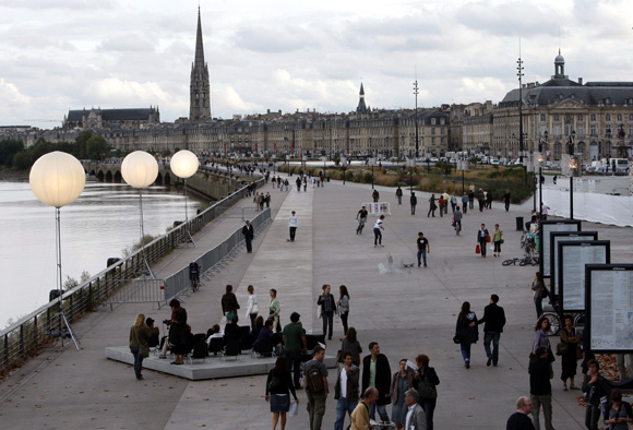 General view of Bordeaux, southwestern France, during Evento, a contemporary art fair.