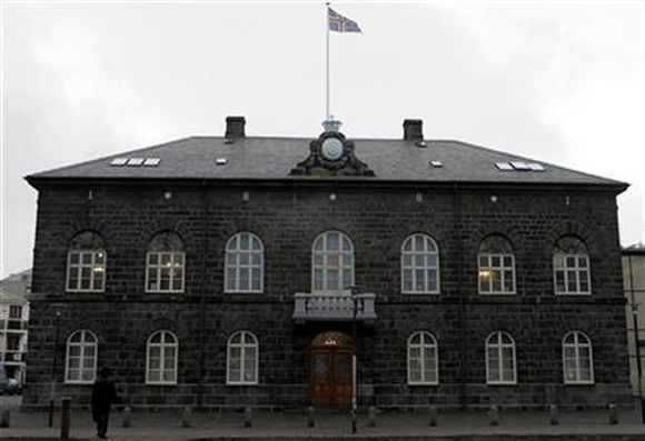 Iceland's Parliament house in Reykjavik.