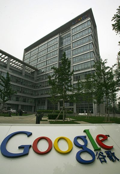 Google's China head office is seen in Beijing's Zhong Guan Cun district.
