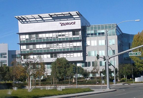 Headquarters of Yahoo! next to Mathilda Avenue in Sunnyvale.