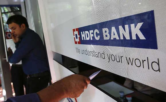 A HDFC Bank branch in Mumbai.