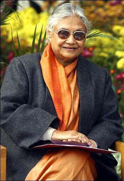 Delhi's Chief Minister Sheila Dixit.