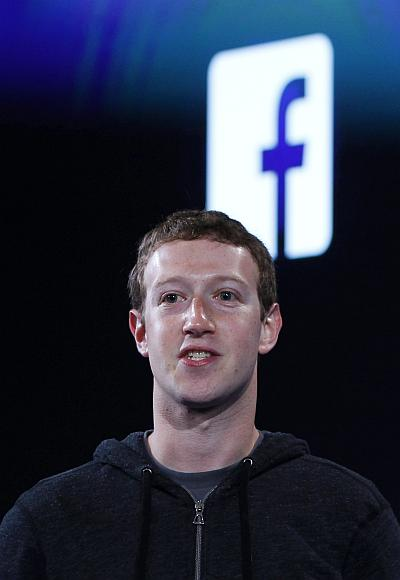 Facebook's co-founder and chief executive Mark Zuckerberg.