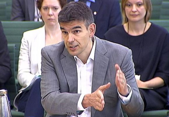 Google's Northern Europe boss, Matt Brittin, testifies to the British parliamentary Public Accounts Committee (PAC) about their taxation practices in London.