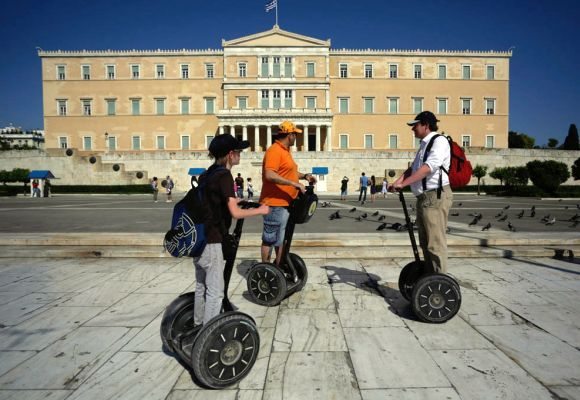 People on Segways.
