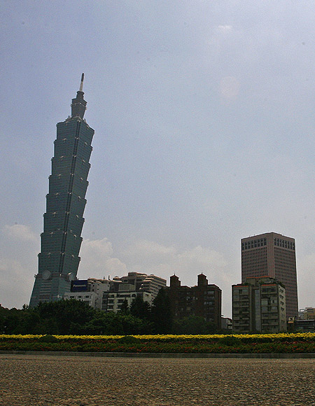Taipei 101 building in Taipei.