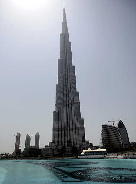 A view of the Burj Khalifa, the world's tallest building, in Dubai.