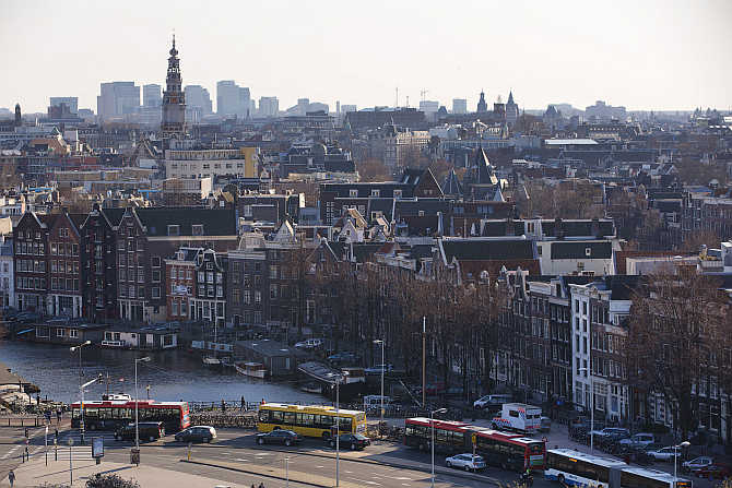 A view of Rijksmuseum in Amsterdam, the Netherlands.