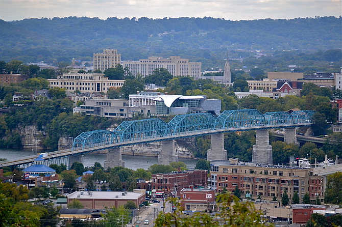 A view of Chattanooga, Tennessee.