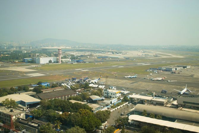 The picture shows a view from ATC Tower.