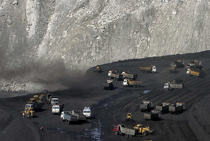 Miners work at the Gevra coalmines in Chhattisgarh. Photo is for representation purpose only.