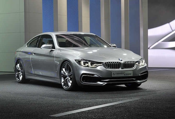 BMW 4 Series Concept coupe on display in Detroit.