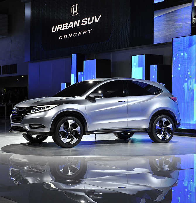 Honda Urban SUV concept on display in Detroit.