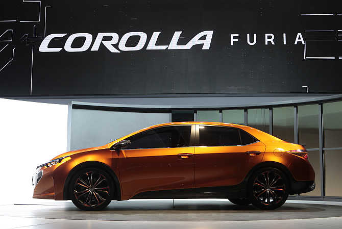 Toyota Corolla Furia concept on display in Detroit.
