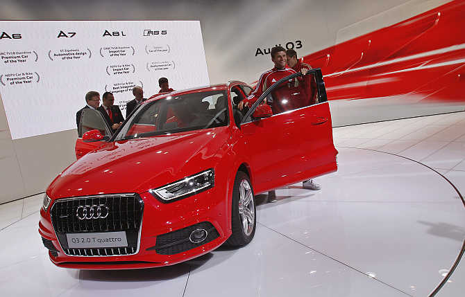 Audi's Q3 compact SUV in New Delhi.