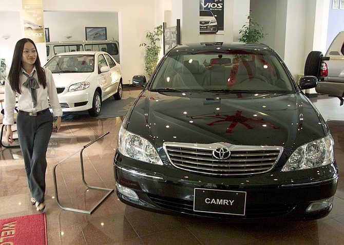 Toyota Camry in Hanoi, Vietnam.