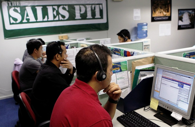 Call centre agents.