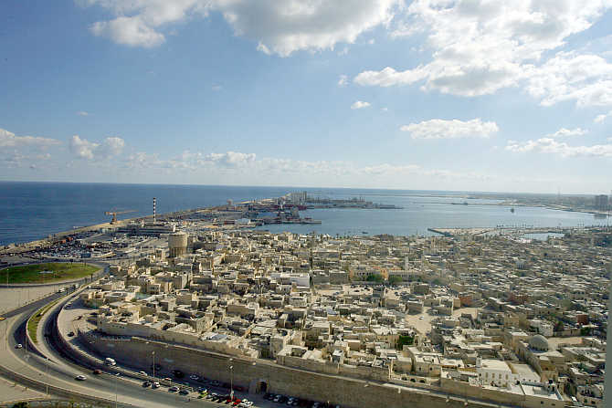A view of Tripoli's Old City, Libya.