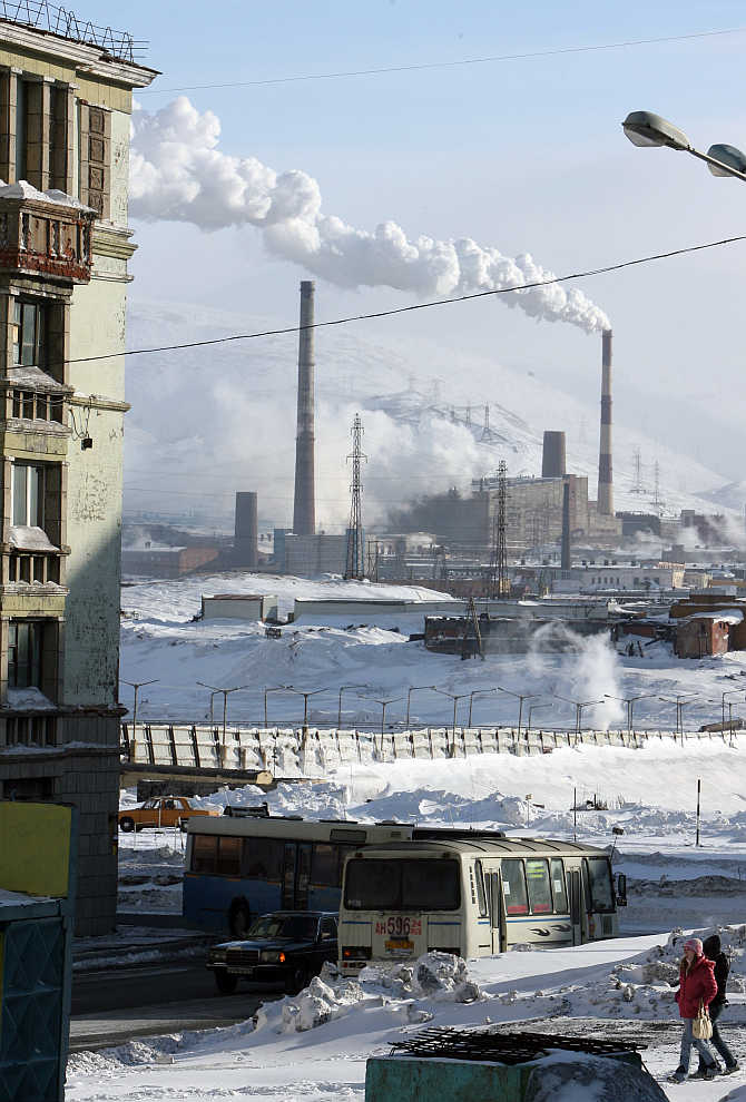A view of Norilsk in Russia.