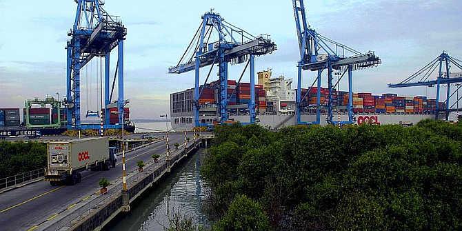 A view of Port Kelang, Malaysia.