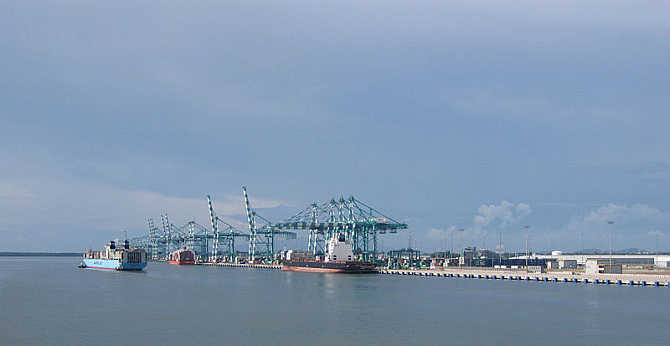 A view of Tanjung Pelepas Port in Malaysia.