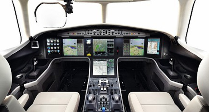Inside the stunning Falcon 5X business jet