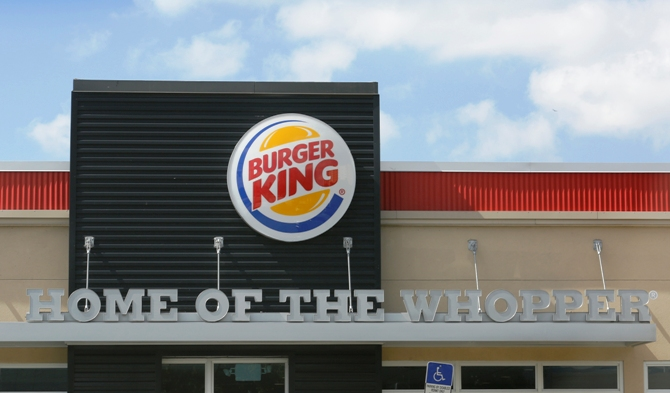 The sign on a Burger King restaurant is shown in Miami, Florida October 28, 2013.